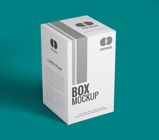 Close up on box mockup design