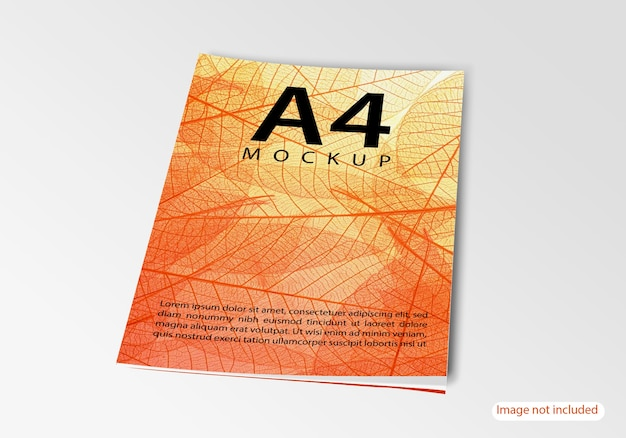 Close up on brochure mockup isolated