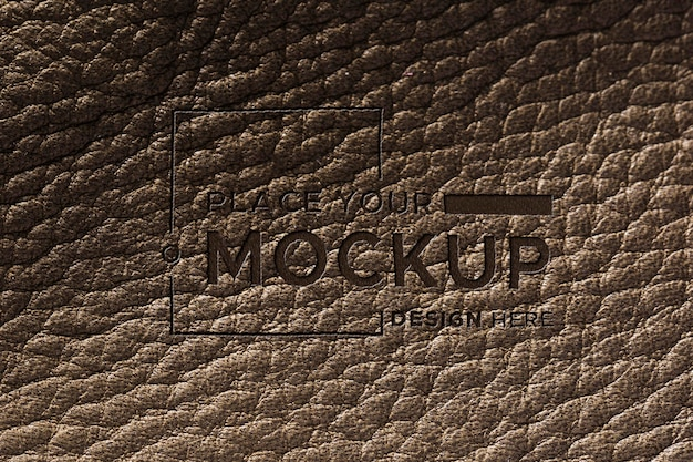 Close-up of brown leather surface mock-up