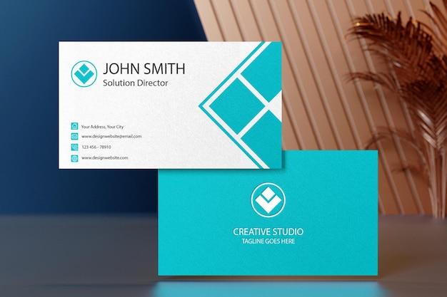 Close up on business card mockup design