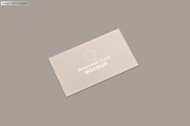 Close up on business card mockup isolated