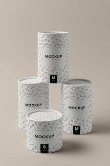 Close up on can packaging mockup