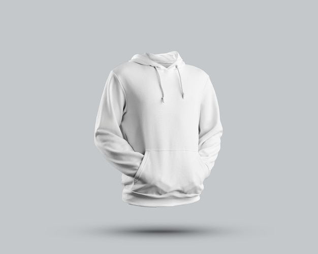 Close up on casual hoodie mockup isolated
