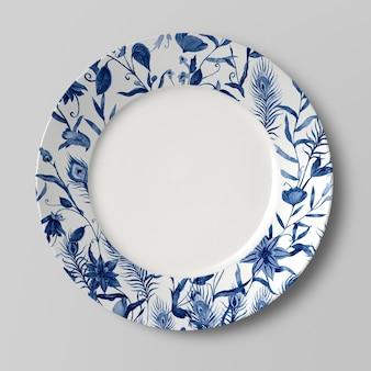 Primo piano sul mockup piatto in ceramica