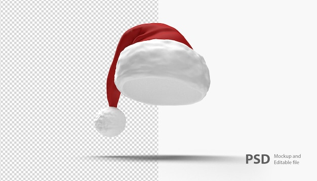 Close up on christmas hat isolated