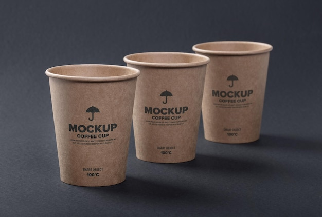 Close up on coffee cup mockup design