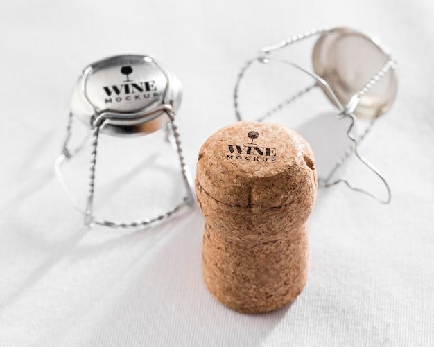Close up corkscrew mock up