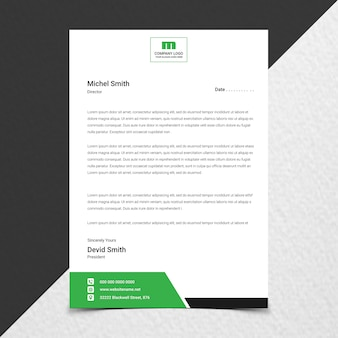 Close up on creative corporate letterhead design