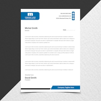 Close up on creative modern letterhead design