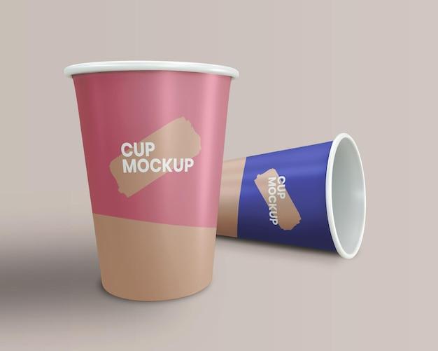 컵 모형 3d 렌더링 닫기