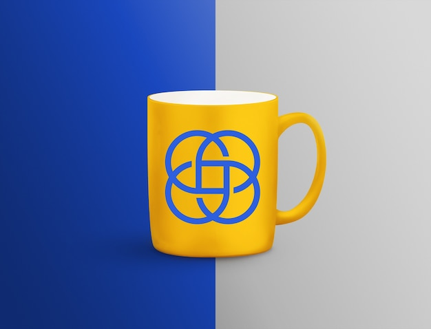 Close up on cup mockup
