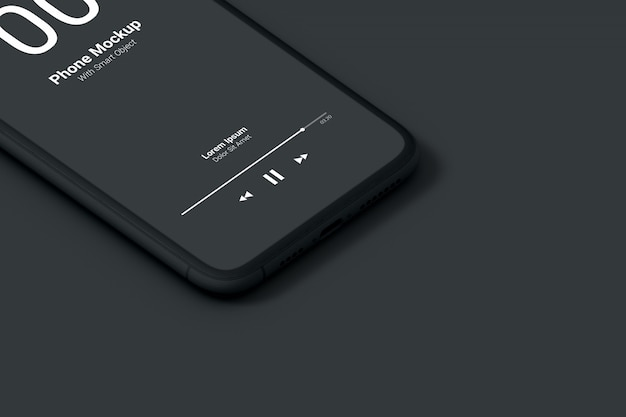 Макет темного телефона