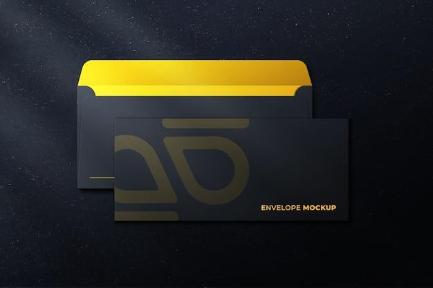 회색 색상 모형에 Dl 봉투를 닫습니다. 프리미엄 PSD 파일