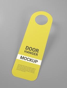Close up on door hanger mockup