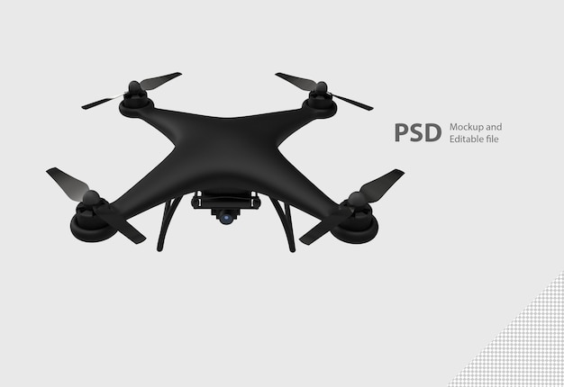 Close up on drone isolated