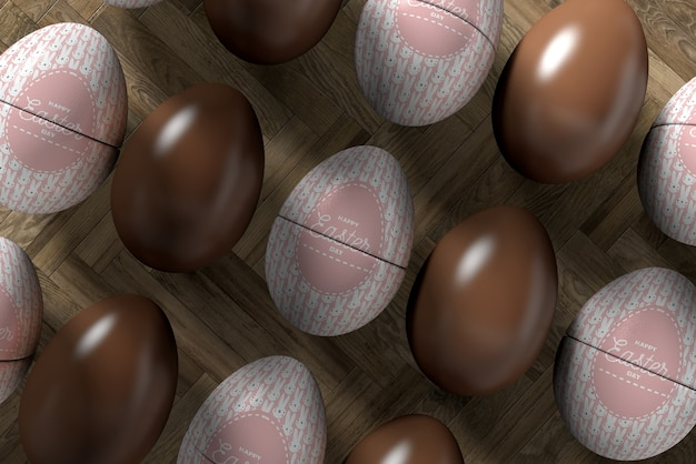 Close-up eggs for easter celebration Free Psd