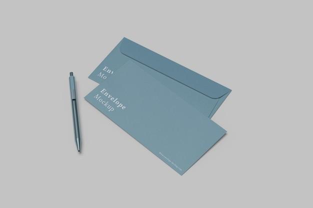 Close up on envelope mockup