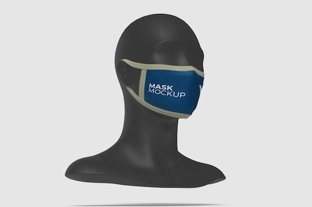 Close up on face mask mockup isolated