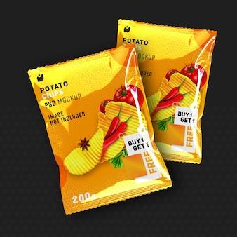 Close up on food presentation packaging mockup