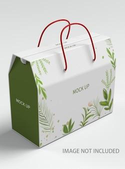 Close up on gift bag mockup