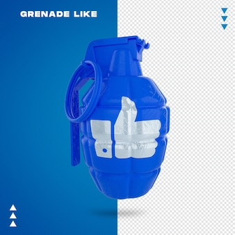 Close up on grenade like in 3d rendering Premium Psd