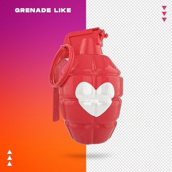 Close up on grenade like in 3d rendering
