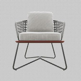 Крупным планом серый диван, визуализация изолированный вид спереди