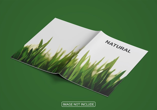 Close up on hardcover book mockup isolated