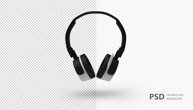 Close up on headphone isolated