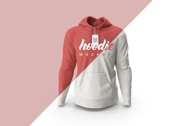 Close up on hoodie mockup front view isolate
