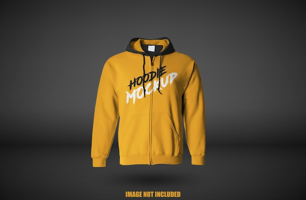 Close up on hoodie mockup isolated