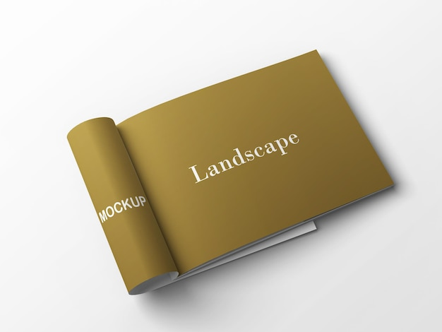 Close up on landscape mockup isolated