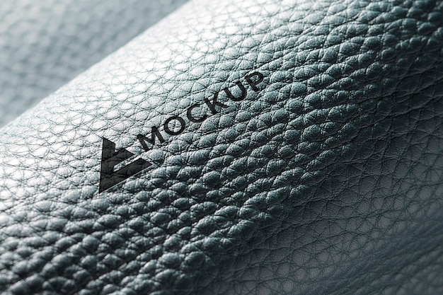 Close-up of leather material mock-up