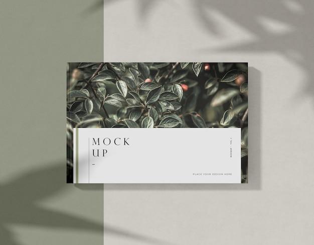 Макро листья макета журнала редакции книги