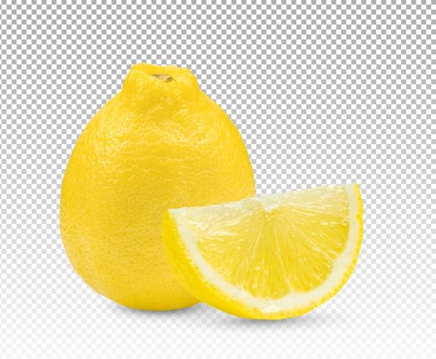 Close up on lemon isolated