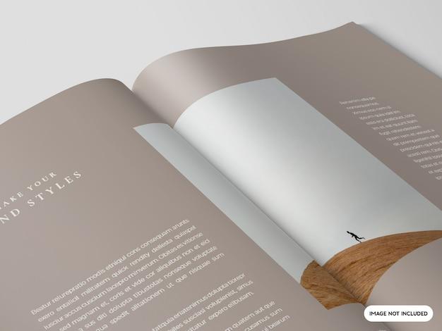 Close up on letter magazine mockup