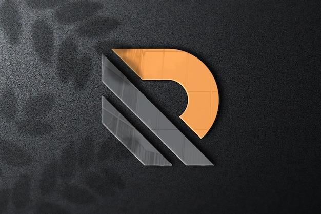 Close up on logo mockup design