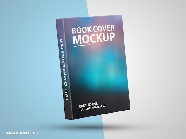 Close up on luxury book hard cover mockup