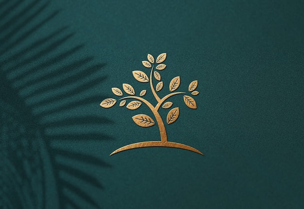Close up on luxury logo mockup design