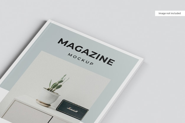 Close up on magazine mockup