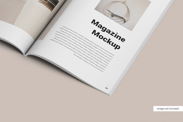 Close up magazine mockup