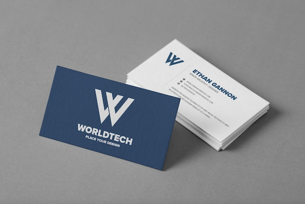 Close up on minimal business card mockup