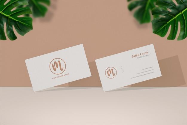 Close up on minimal business card mockup