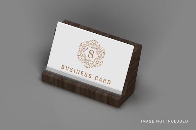 Закройте минимальную визитку с макетом держателя