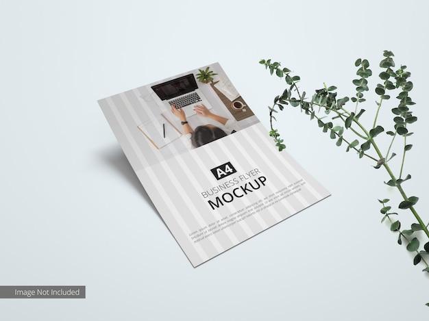 Close up on minimal business flyer mockup