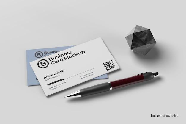 Close up on minimalist business card mockup