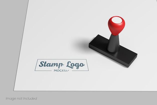 Close up on minimalist stamp mockup