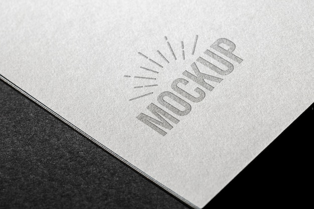 Close-up mock-up on business card