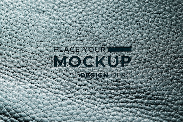 Close-up of mock-up leather material