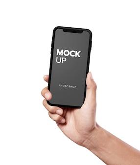 Close up on modern mobile mockup